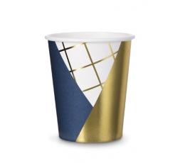 """Vienkartiniai puodeliai """"Mėlynas auksas"""" (6 vnt./260 ml.)"""