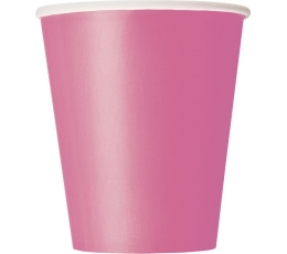 Vienkartiniai puodeliai / rožiniai (8vnt./270 ml.)
