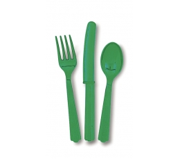 Vienkartinių įrankių rinkinys / žali (18 vnt.)