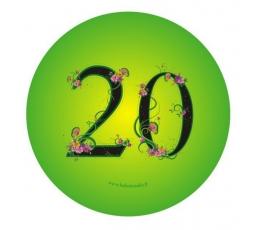 """Ženkliukas. Gėlės """"20"""" (7.7 cm.)"""
