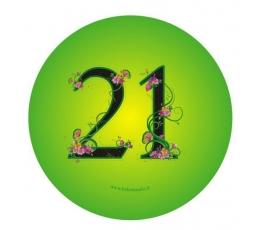 """Ženkliukas. Gėlės """"21"""" (7.7 cm.)"""