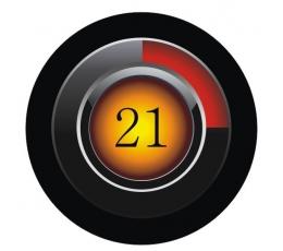 """Ženkliukas. Juodas """"21"""" (7.7 cm.)"""