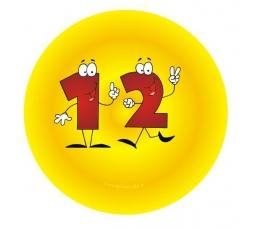 """Ženkliukas. Skaičiai-žmogeliukai """"12"""" (7.7 cm.)"""