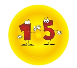 """Ženkliukas. Skaičiai-žmogeliukai """"15"""" (7.7 cm.)"""