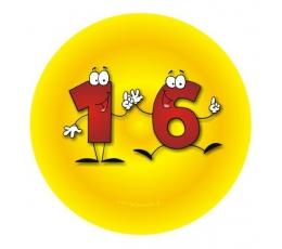 """Ženkliukas. Skaičiai-žmogeliukai """"16"""" (7.7 cm.)"""
