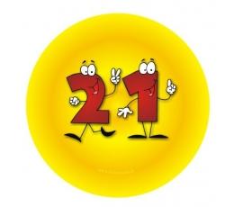 """Ženkliukas. Skaičiai-žmogeliukai """"21"""" (7.7 cm.)"""