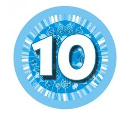 """Ženkliukas""""Melsvi balionėliai-10"""" (7.7cm.)"""