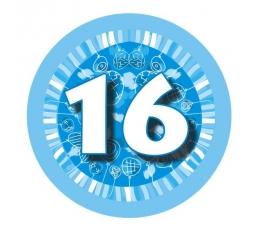 """Ženkliukas""""Melsvi balionėliai-16"""" (7.7cm.)"""
