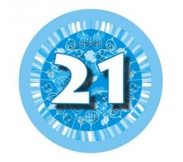 """Ženkliukas""""Melsvi balionėliai  -21"""" (7.7cm.)"""