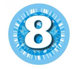 """Ženkliukas""""Melsvi balionėliai-8"""" (7.7cm.)"""