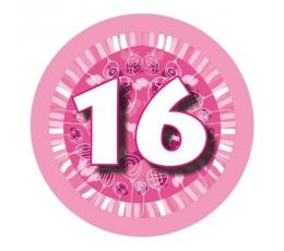 """Ženkliukas""""Rausvi balionėliai-16"""" (7.7cm.)"""