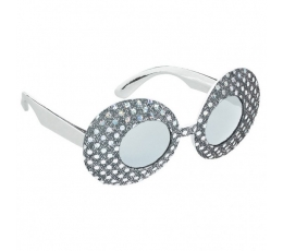 Žėrintys akiniai / sidabriniai (1 vnt./AKCIJA)