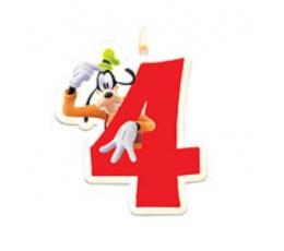 "Žvakutė skaičius "" 4 "" (1 vnt.)"