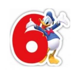 "Žvakutė skaičius "" 6 "" (1 vnt.)"