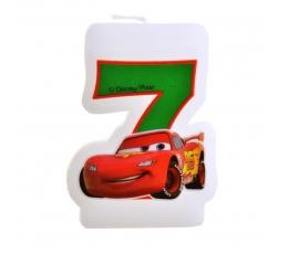 """Žvakutė skaičius/Mašinėlė """" 7 """" (1 vnt.)"""