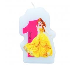 """Žvakutė skaičius/Princesė """" 1 """" (1 vnt.)"""