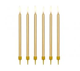 Žvakutės tortui / auksinės (12 vnt. / 12.5 cm.)