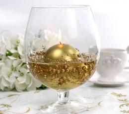 Perliukų girlianda, auksinė (1,3 m) 1