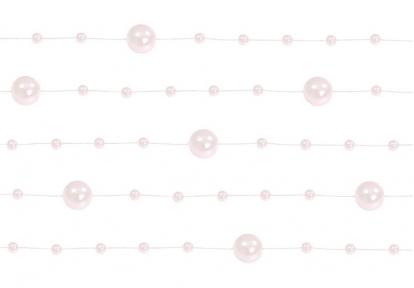 Perliukų girlianda, rausva (1,3 m)