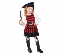 Piratės kostiumas, dryžuotas (4-6 m.)