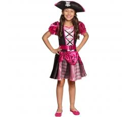 Piratės kostiumas, rožinis (4-6 m.)