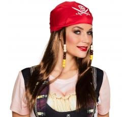 Piratės perukas su skarele