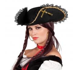 Piratės skrybėlė, puošni trikampė