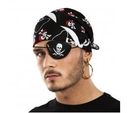 Pirato akies raištis ir auskaras