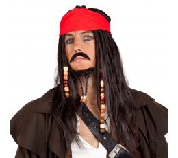 Pirato perukas su barzda ir galvajuoste