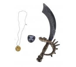 Pirato rinkinys (kardas, akies raištis, medalionas)