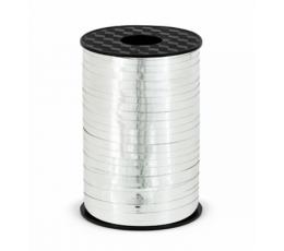 Plastikinė juostelė, sidabrinė blizgi (5 mm/225 m)