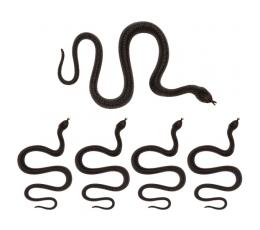 Plastikinės gyvatės (5 vnt./35 cm)