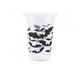 """Plastikiniai puodeliai """"Juodi šikšnosparniai"""" (8 vnt./350 ml)"""