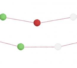 """Pliušinių burbuliukų girlianda """"Kalėdos"""" (2 m) 1"""