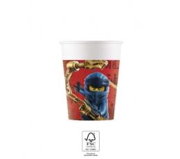 """Popieriniai puodeliai """"Lego Ninjago"""" (8 vnt./200 ml)"""