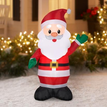 """Pripučiama šviečianti dekoracija """"Kalėdų Senelis"""" (65x55x120 cm/3 LED)"""