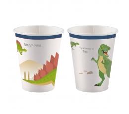 "Puodeliai ""Dinozaurai"" (8 vnt./250 ml)"
