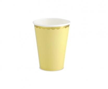 Puodeliai, gelsvi aukso krašteliu (6 vnt./220 ml)