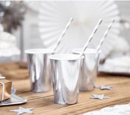 Puodeliai, sidabriniai blizgūs (6 vnt./180 ml) 1