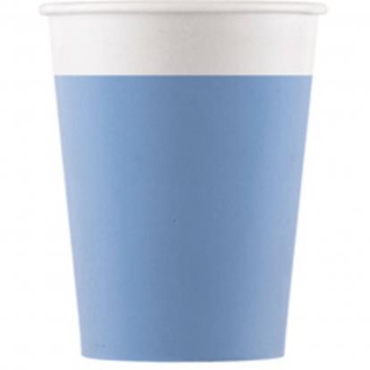 Puodeliai, švelniai mėlyni (8 vnt./200 ml) kompostuojami