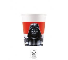 """Popieriniai puodeliai """"Žvaigždžių karai"""" (8 vnt./200 ml)"""