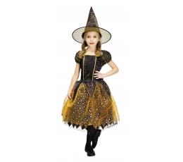 Raganaitės kostiumas, juodas-oranžinis (5-6 m.)
