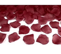 Rožių žiedlapiai, tamsiai raudoni (dirbtiniai) (100 vnt.)