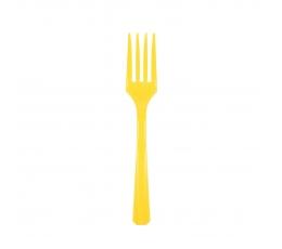 Šakutės, geltonos (24 vnt.)