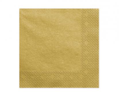 Servetėlės. auksinės blizgios (20 vnt.)