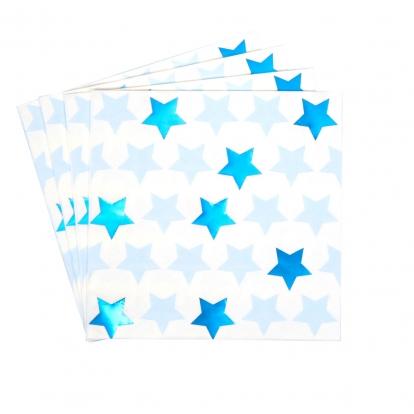 """Servetėlės """"Mėlynos žvaigždutės"""" (16 vnt.)"""