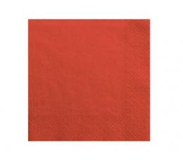 Servetėlės, raudonos ( 20 vnt.)
