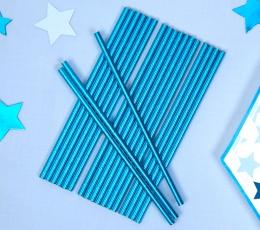 Šiaudeliai, mėlyni blizgūs (25 vnt.) 1