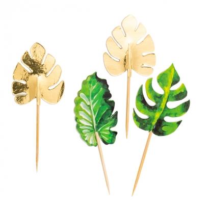"""Smeigtukai-dekoracijos """"Aukso palmės"""" (10 vnt./10 cm)"""