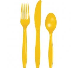 Stalo įrankių rinkinys, geltonas (24 vnt.)